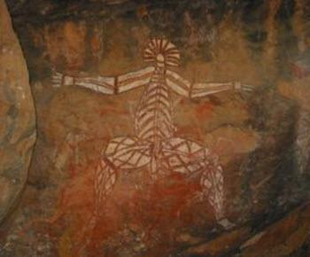 Aboriginal rock art sites in the Kakadu National Park
